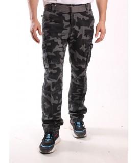 Pánske ARMY maskáčové nohavice LOSHAN (H8103-75A) - sivé