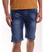 Pánske elastické krátke rifľové nohavice NEWSKY (DN802) - modré