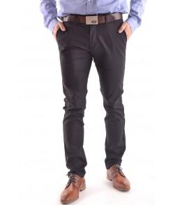 Pánske elastické športovo-elegantné nohavice M.SARA (KA6087-13) - čierne