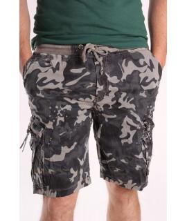 Pánske ARMY maskáčové krátke nohavice LOSHAN (8106-7) - zelené