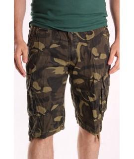 Pánske ARMY maskáčové krátke nohavice LOSHAN (8076-61) - army green