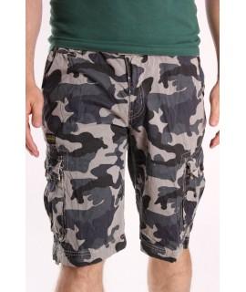 Pánske ARMY maskáčové krátke nohavice LOSHAN (8104-7) - zelené