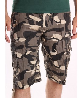 Pánske ARMY maskáčové krátke nohavice LOSHAN (8076 -19A) - béžové