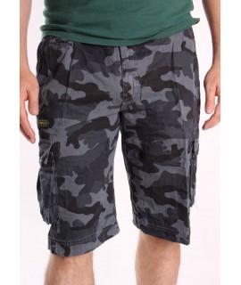 Pánske ARMY maskáčové krátke nohavice LOSHAN (8104-85) - sivé