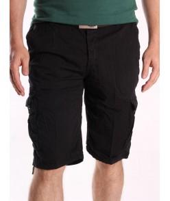 Pánske ARMY krátke nohavice LOSHAN (8071-26A) - čierne