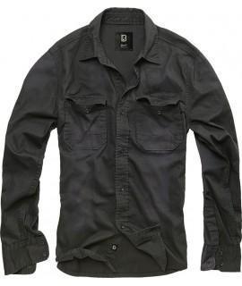 Brandit pánska rifľová košeľa - čierna
