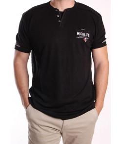 Pánske bavlnené tričko REDWAY (3026) - čierne