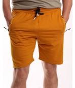 Pánske elastické športové krátke nohavice TOMY PARKER (5938) - okrové