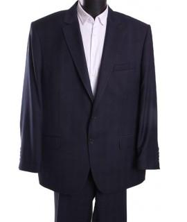 """Pánsky oblek KONRAD - """"B"""" (v. 188cm) - jemne károvaný - modro-čierny"""
