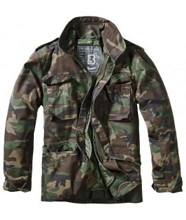 Brandit pánska bunda STANDARD s vyberateľnou zateplenou vložkou - woodland