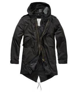 Brandit pánska bunda amerického štýlu s vyberateľnou vložkou - čierna