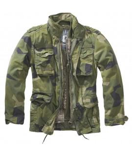 Brandit pánska maskáčová bunda M65 Giant s vyberateľnou vložkou - swedish camo