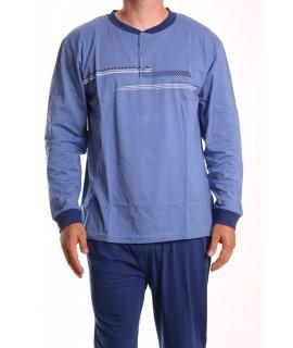 Pánske pyžamo DEVELOP 12127 - modré