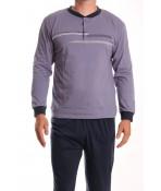 Pánske pyžamo DEVELOP 12127 - sivomodré