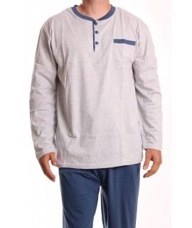 Pánske pyžamo DEVELOP 1850 - bledosivé