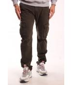 Pánske elastické INDUSTRIAL nohavice LOSHAN (8046-87) - Army Green - zelené