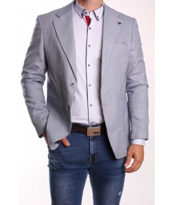 Pánske športovo-elegantné sako ENZO (320) - bledomodré