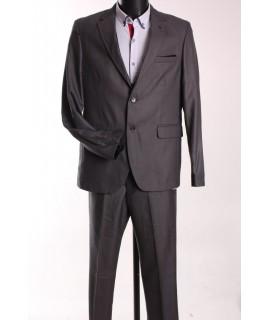 Pánsky oblek FRAPPOLI s vestou (6010) - sivý