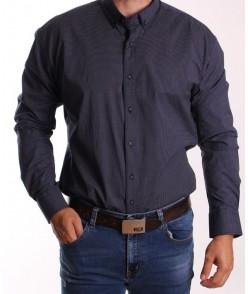 Pánska elastická košeľa vzorovaná ENZO 3420 - čierna