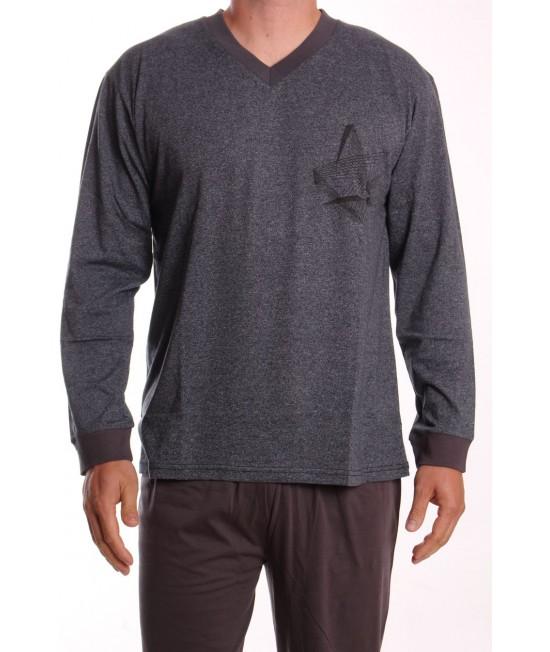 Pánske pyžamo DEVELOP 12128 - antracitové