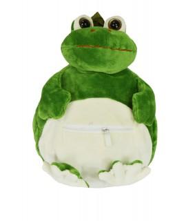 Detský plyšový vak ŽABA 1 - zelený