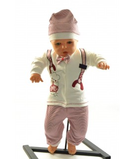 Baby súprava MOTÝLIK - maslovo-bordová