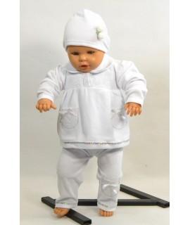 Baby súprava - biela s čipkou B1