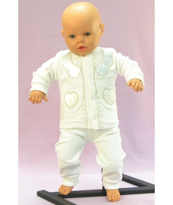 Baby súprava SRDIEČKO - maslová B1