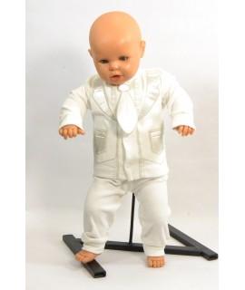 Baby súprava s kravatou - maslová B1