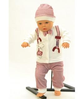 Baby súprava MOTÝLIK - maslovo-bordová B1
