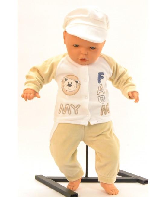 Baby súprava FARM - maslovo-béžová B1