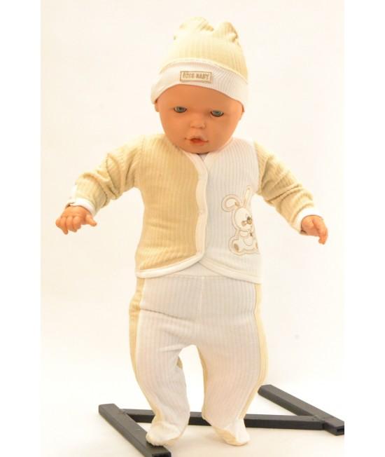 Baby súprava ZAJAC - béžovo-maslová B1