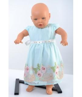 Tyrkysové šaty detské - vyšívané B1