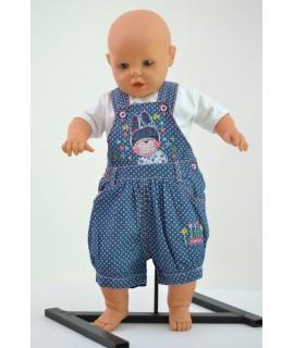 Dievčenské krátke nohavice na traky B1