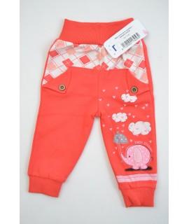Baby nohavice so sloníkom - bledočervené B1