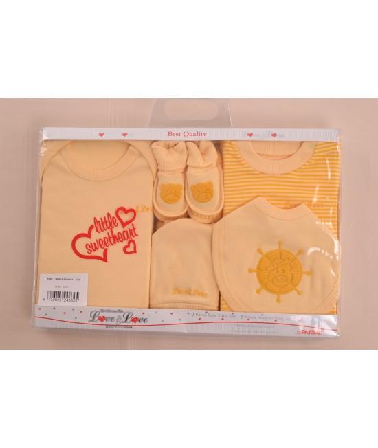 Baby 7-dielna súprava - žltá