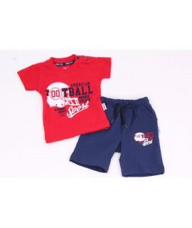 """Chlapčenská súprava """"FOOTBALL"""" - červeno modrá"""