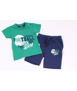 """Chlapčenská súprava """"FOOTBALL"""" - zeleno- modrá"""