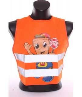 """Reflexná detská vesta s obrázkom """"CHLAPEC"""" - oranžová (4-9 r.)"""