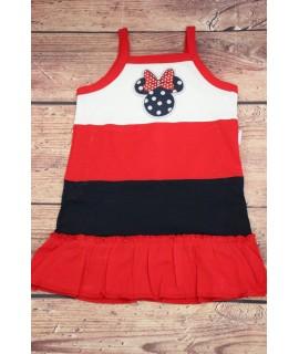 Dievčenské šaty MINNIE - červeno-biela