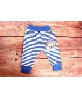 Detské pásikavé nohavice - modré