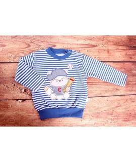 Detské pásikavé tričko - modré