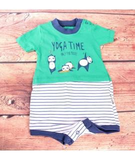 Detské opaľovačky YOGA TIME - zeleno-modré