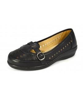 Čierna uzavretá zdravotná obuv