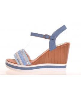 7897167d604e2 Dámske letné sandále s korálkami - bledomodré (FY-1) (v. 9