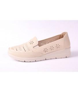 Dámska zdravotná letná obuv (3593) - béžová (v. p. 3,5 cm)