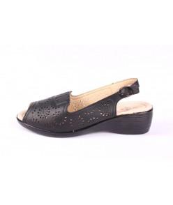 Dámske zdravotné sandále (A-698) - čierne (v. p. 4 cm)