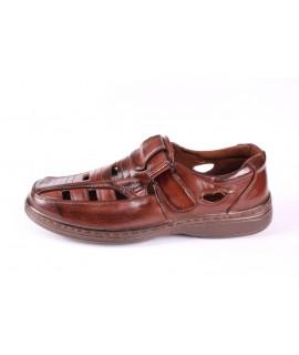 Pánska letná obuv (JA36) - hnedá