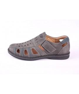 Pánska letná obuv (83098) - sivá