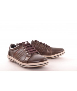 Pánska športová obuv koženková - hnedá